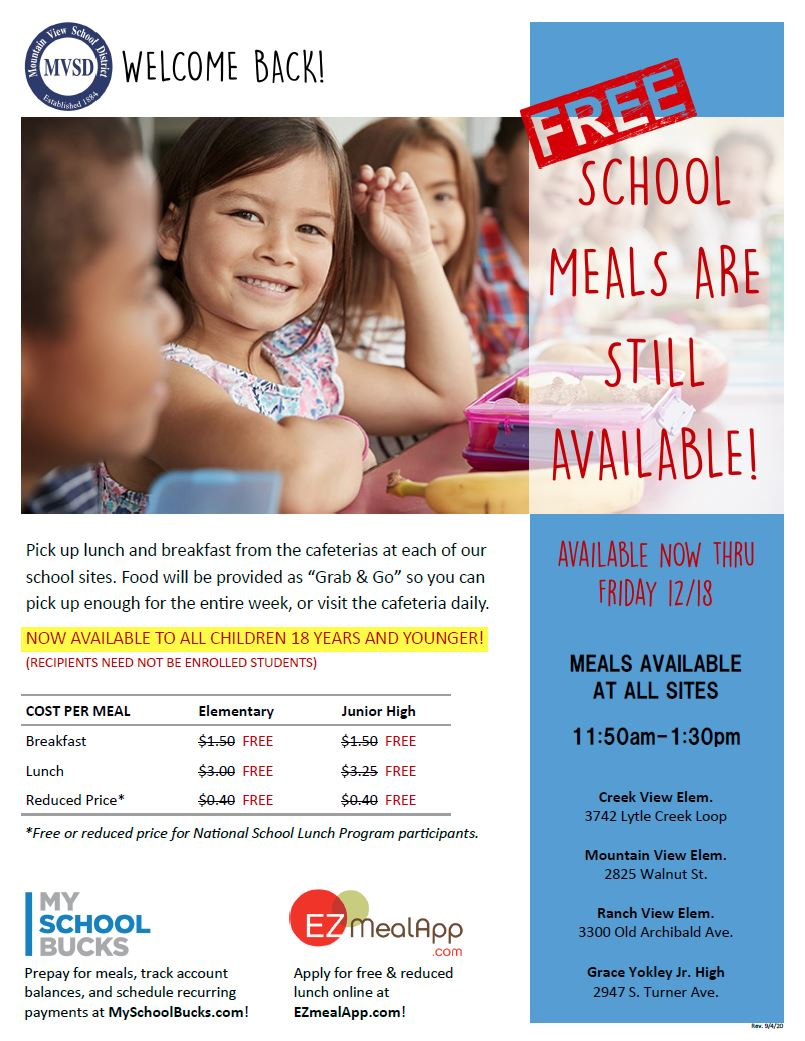 School Lunch flyer